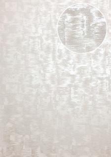 Ton-in-Ton Tapete ATLAS XPL-593-5 Vliestapete strukturiert mit abstraktem Muster schimmernd grau creme-weiß weiß perl-weiß 5, 33 m2