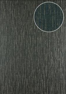 Grafik Tapete Atlas 24C-5057-2 Vliestapete strukturiert mit abstraktem Muster und Metallic Effekt schwarz anthrazit-grau platin silber 7, 035 m2