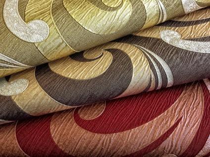 Grafik Vliestapete EDEM 915-35 XXL Designer Präge-Tapete geschwungene abstraktes Muster rot bronze gold 10, 65 qm - Vorschau 2