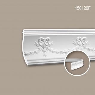 Eckleiste PROFHOME 150120F flexible Zierleiste Flexible Leiste Stuckleiste Neo-Empire-Stil weiß 2 m