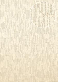 Struktur Tapete Atlas COL-527-4 Vliestapete strukturiert unifarben schimmernd weiß creme-weiß 5, 33 m2