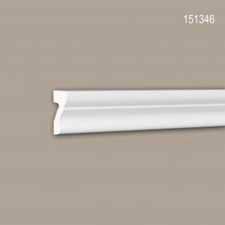 Wand- und Friesleiste PROFHOME 151346 Stuckleiste Zierleiste Wandleiste Neo-Klassizismus-Stil weiß 2 m
