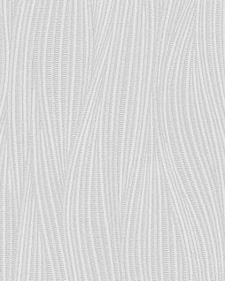 Streifen Tapete EDEM 82050BR50 Vinyltapete strukturiert mit geschwungenen Linien dezent glitzernd weiß 7, 95 m2