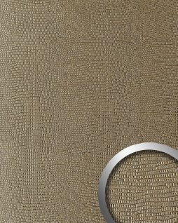 Dekorpaneel Leder Optik WallFace 19780 Antigrav LEGUAN Silk Wandverkleidung glatt in Leguanleder Optik matt braun 2, 6 m2