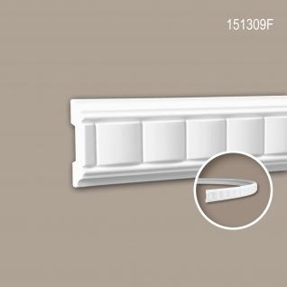 Wand- und Friesleiste PROFHOME 151309F Stuckleiste Flexible Leiste Zierleiste Zeitloses Klassisches Design weiß 2 m
