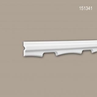 Wand- und Friesleiste PROFHOME 151341 Stuckleiste Zierleiste Wandleiste Neo-Empire-Stil weiß 2 m