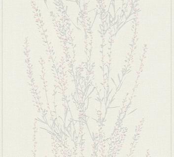 Blumen Tapete Profhome 372671-GU Vliestapete leicht strukturiert mit floralen Ornamenten matt grau rosa 5, 33 m2