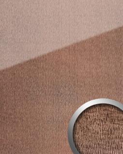 Wandpaneel Glas-Optik WallFace 20216 CURVED Rose AR+ Wandverkleidung glatt in Leder-Optik spiegelnd selbstklebend abriebfest rosa bronze 2, 6 m2