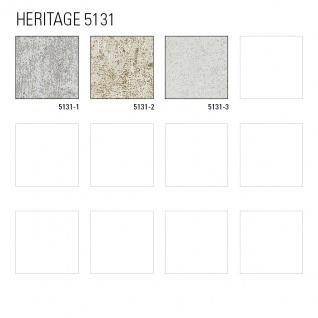 Ton-in-Ton Tapete ATLAS HER-5131-1 Vliestapete strukturiert im Shabby Chic Stil glänzend grau perl-weiß gold-braun 7, 035 m2 - Vorschau 5