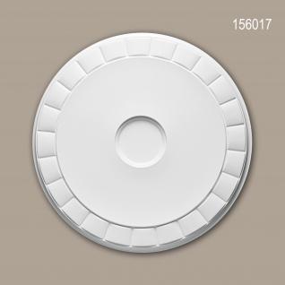 Rosette PROFHOME 156017 Zierelement Deckenelement Modernes Design weiß Ø 45, 0 cm