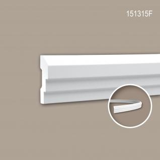Wand- und Friesleiste PROFHOME 151315F Stuckleiste Flexible Leiste Zierleiste Neo-Klassizismus-Stil weiß 2 m
