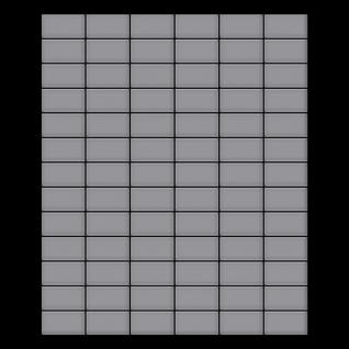 Mosaik Fliese massiv Metall Edelstahl matt in grau 1, 6mm stark ALLOY Bauhaus-S-S-MA 1, 05 m2 - Vorschau 3