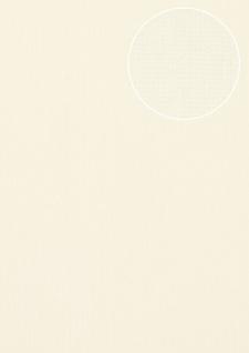 Edle Uni Tapete Atlas COL-497-5 Vliestapete glatt mit Streifen schimmernd creme weiß hell-elfenbein 5, 33 m2