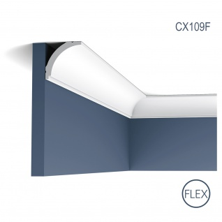 Zierleiste Profilleiste Orac Decor CX109F AXXENT flexible Stuck Profil Eckleiste Wand Leiste Decken Leiste 2 Meter
