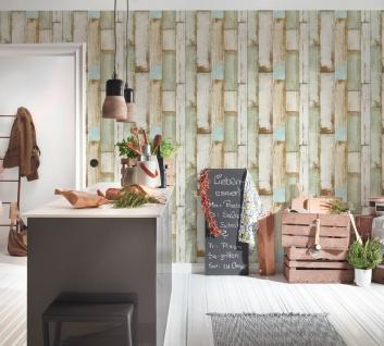 Holz Tapete Profhome 368942-GU Vliestapete glatt in Holzoptik matt beige braun creme-weiß 5, 33 m2 - Vorschau 4