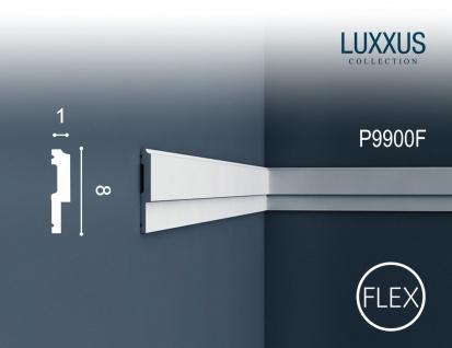 Wandleiste Stuck Orac Decor P9900F LUXXUS flexible Friesleiste Rahmen Dekor Profil Leiste Zierleiste stoßfest | 2 Meter