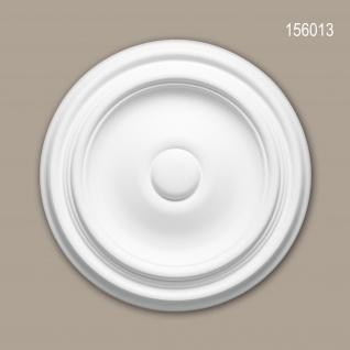 Rosette PROFHOME 156013 Zierelement Deckenelement Zeitloses Klassisches Design weiß Ø 26, 0 cm