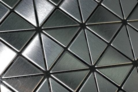 Mosaik Fliese massiv Metall Edelstahl gebürstet in grau 1, 6mm stark ALLOY Deco-S-S-B 0, 92 m2 - Vorschau 4