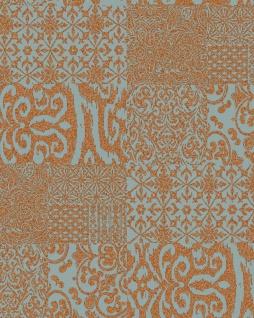 Barock Tapete Profhome VD219150-DI heißgeprägte Vliestapete geprägt im Barock-Stil glänzend kupfer mint 5, 33 m2