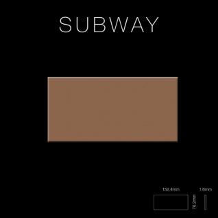 Mosaik Fliese massiv Metall Titan hochglänzend in kupfer 1, 6mm stark ALLOY Subway-Ti-AM 0, 58 m2 - Vorschau 2