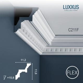 Zierleiste Orac Decor C211F LUXXUS flexible Eckleiste Stuckleiste Profilleiste Stuckdekor Decken Wand Leiste   2 Meter