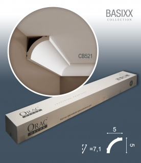 Orac Decor CB521 BASIXX 1 Karton SET mit 39 Stuckleisten | 78 m