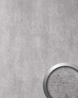 Wandpaneel Beton Optik WallFace 19091 CEMENT LIGHT Stein Blickfang Dekor Wandverkleidung selbstklebend hellgrau grau 2, 60 qm