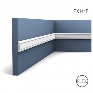Wandleiste Zierleiste von Orac Decor PX144F AXXENT flexible Profilleiste Friesleiste Stuckprofil Wand Rahmen 2 Meter