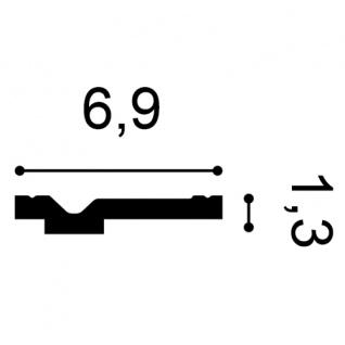 Dekor Stuckleiste Wand Orac Decor CX161 AXXENT Zierleiste Profilleiste Profil Decken Boden Leiste | 2 Meter - Vorschau 2