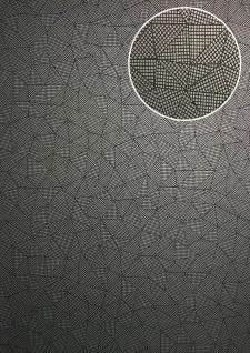 Grafik Tapete ATLAS XPL-590-0 Vliestapete strukturiert mit geometrischen Formen schimmernd anthrazit achat-grau grau silber-grau 5, 33 m2