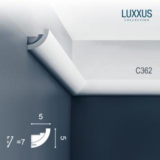 Stuck Wandleiste Orac Decor C362 LUXXUS Eckleiste Zierleiste für indirekte Beleuchtung Wand Dekor Leiste | 2 Meter