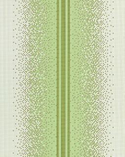 Streifen Tapete EDEM 1023-15 Tapete Design Mosaik-Steinchen Muster Pixel Look dezenter Glitzereffekt abwaschbar grün weiß