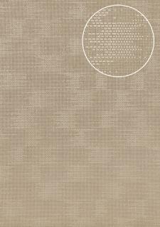 Uni Tapete Atlas COL-499-7 Vliestapete strukturiert mit Struktur schimmernd grau seiden-grau stein-grau 5, 33 m2