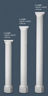 Stuck Halbsäule Orac Decor K4001 LUXXUS Säulenschaft Säulensegment klassisches Reliefprofil Wand Dekor Element | 72 cm - Vorschau 3