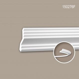 Eckleiste PROFHOME 150276F Stuckleiste Flexible Leiste Zierleiste Modernes Design weiß 2 m