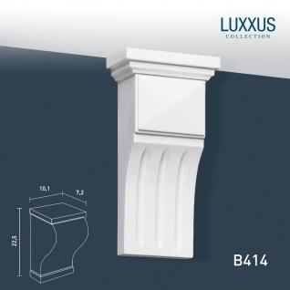 Stützkonsole Stuck von Orac Decor B414 LUXXUS Konsole Wandboard Stuckgesims Wand Dekor Element weiß | 22 cm hoch