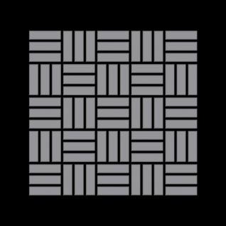 Mosaik Fliese massiv Metall Edelstahl matt in grau 1, 6mm stark ALLOY Basketweave-S-S-MA 0, 82 m2 - Vorschau 3