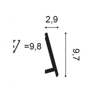 Sockelleiste Orac Decor SX179 MODERN DIAGONAL Zierleiste Fußleiste Modernes Design weiß 2m - Vorschau 2