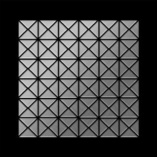 Mosaik Fliese massiv Metall Edelstahl gebürstet in grau 1, 6mm stark ALLOY Deco-S-S-B 0, 92 m2 - Vorschau 3