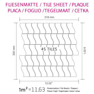 Mosaik Fliese massiv Metall Edelstahl gebürstet in grau 1, 6mm stark ALLOY Flux-S-S-B Designed by Karim Rashid 0, 86 m2 - Vorschau 4