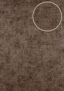 Uni Tapete ATLAS CLA-598-9 Vliestapete glatt im Used Look schimmernd braun braun-grau 5, 33 m2