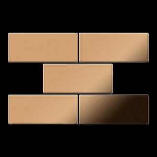 Mosaik Fliese massiv Metall Titan hochglänzend in kupfer 1, 6mm stark ALLOY Subway-Ti-AM 0, 58 m2 - Vorschau 3