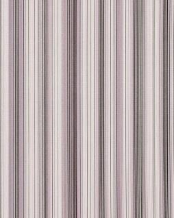 Streifen Tapete EDEM 097-24 Designer Tapete prunkvolle modern und edel violett flieder weiß silber schwarz