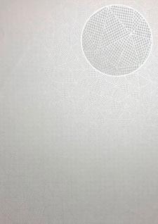 Grafik Tapete ATLAS XPL-594-4 Vliestapete strukturiert mit geometrischen Formen schimmernd weiß schnee-weiß rein-weiß 5, 33 m2