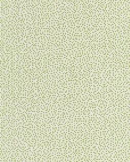 Stein Tapete EDEM 1024-15 Tapete Designer Mosaik-Steinchen Muster Pixel Look dezenter Glitzereffekt abwaschbar grün weiß