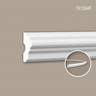 Wand- und Friesleiste PROFHOME 151304F Stuckleiste Flexible Leiste Zierleiste Neo-Klassizismus-Stil weiß 2 m