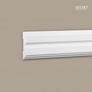 Wand- und Friesleiste PROFHOME 151357 Stuckleiste Zierleiste Friesleiste Neo-Klassizismus-Stil weiß 2 m