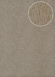 Hochwertige Ton-in-Ton Tapete Atlas COL-544-7 Vliestapete glatt mit abstraktem Muster schimmernd braun beige-grau terra-braun silber 5, 33 m2