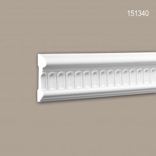 Wand- und Friesleiste PROFHOME 151340 Stuckleiste Zierleiste Wandleiste Zeitloses Klassisches Design weiß 2 m