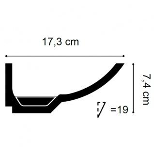 Dekor Profil Orac Decor C351 LUXXUS Eckleiste Zierleiste für indirekte Beleuchtung Wand Decken Stuckprofil 2 Meter - Vorschau 2